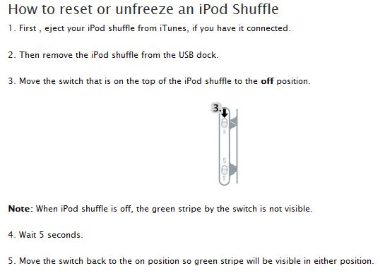 ipod shuffle instructions for dummies