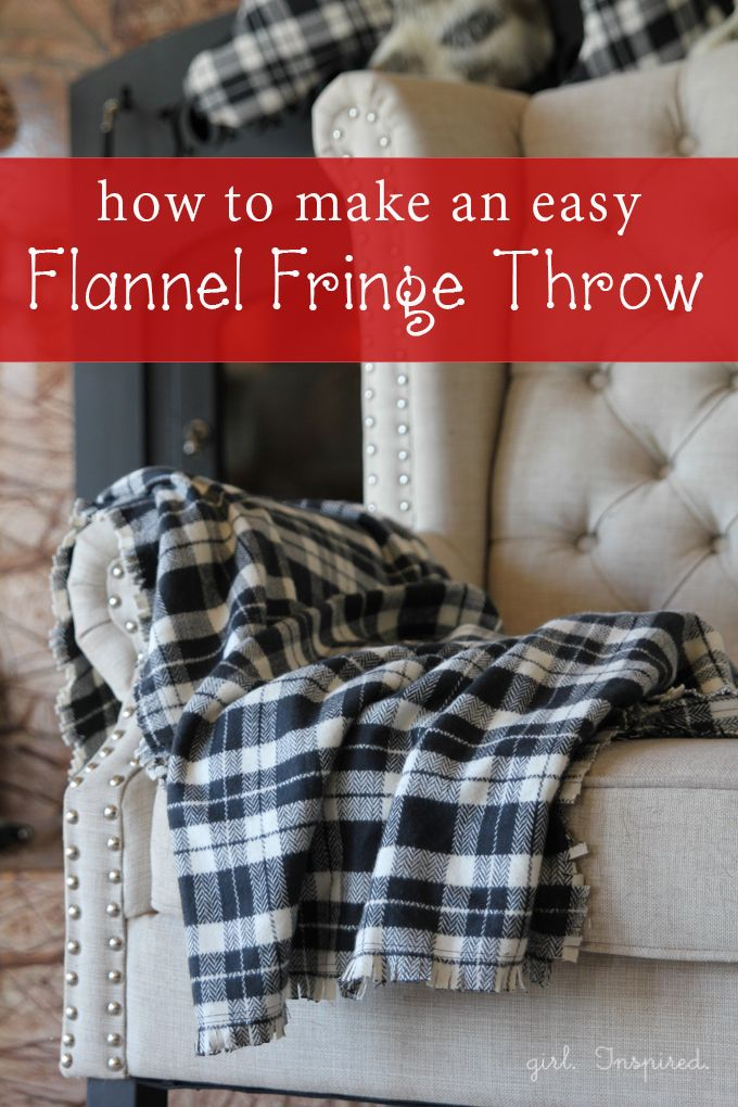 fleece fringed blanket instructions