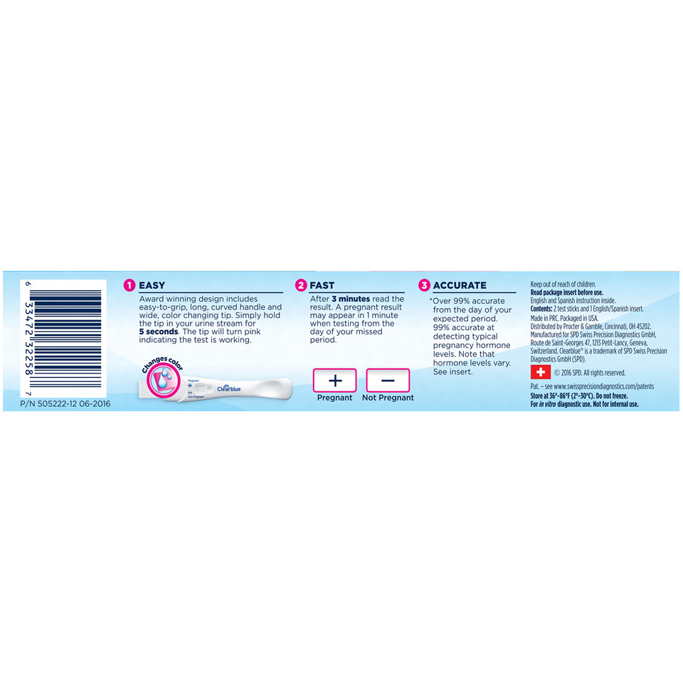 clearblue easy pregnancy test instructions