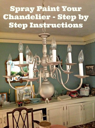 spray paint chandelier instructions