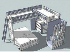 pottery barn sleep and study loft bed instructions