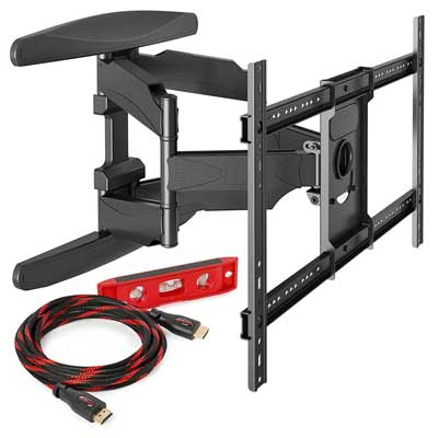 monoprice full motion tv mount instructions