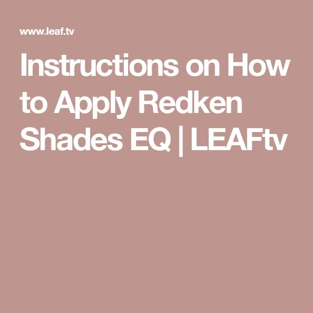 redken shades eq color gloss instructions