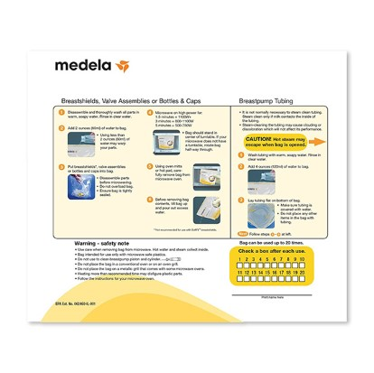 medela steam bags instructions