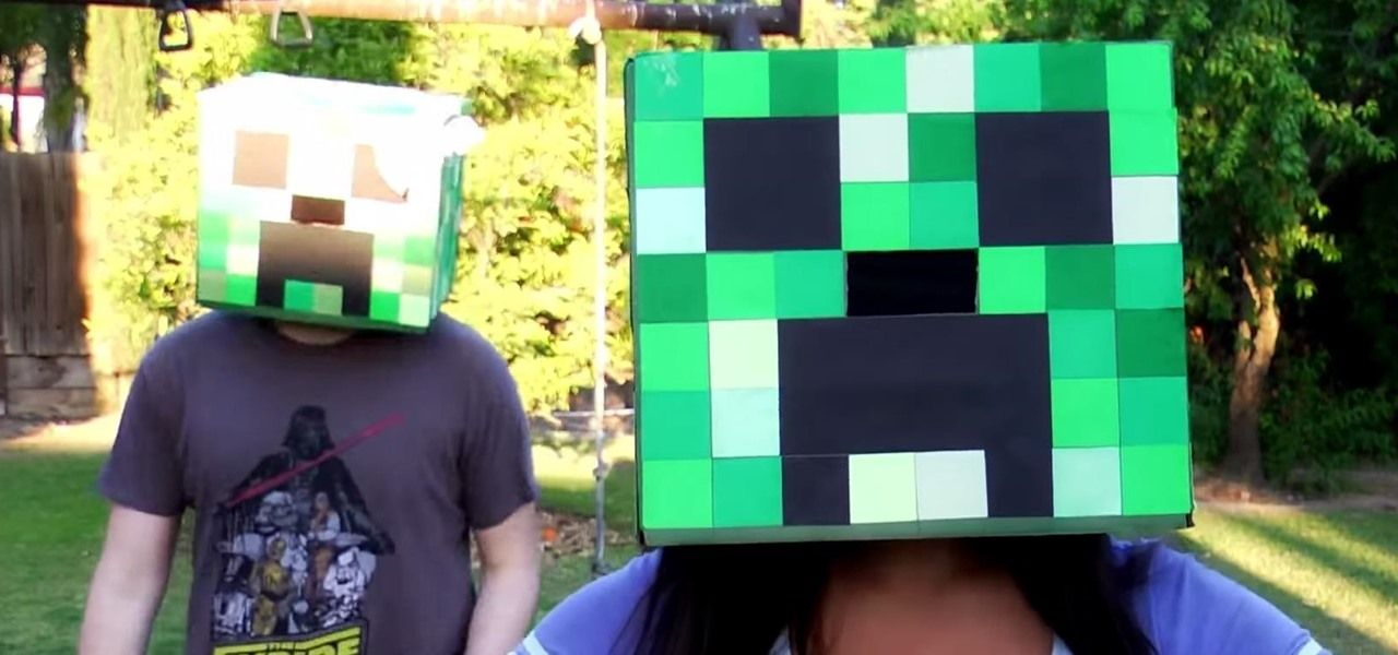 minecraft cardboard head instructions