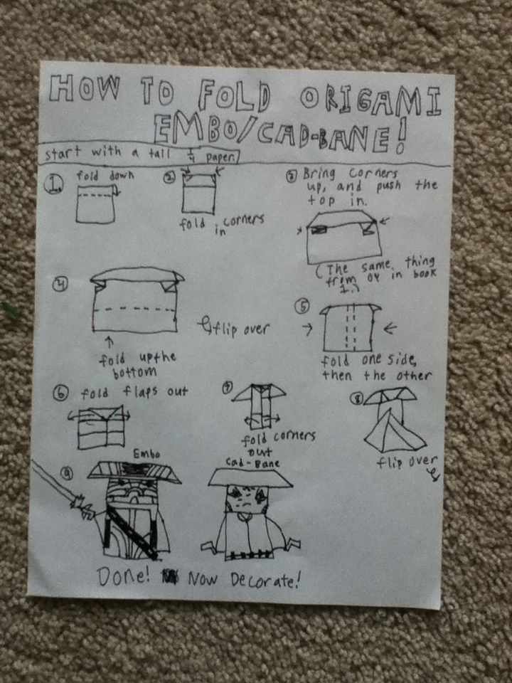 deluxe origami yoda instructions