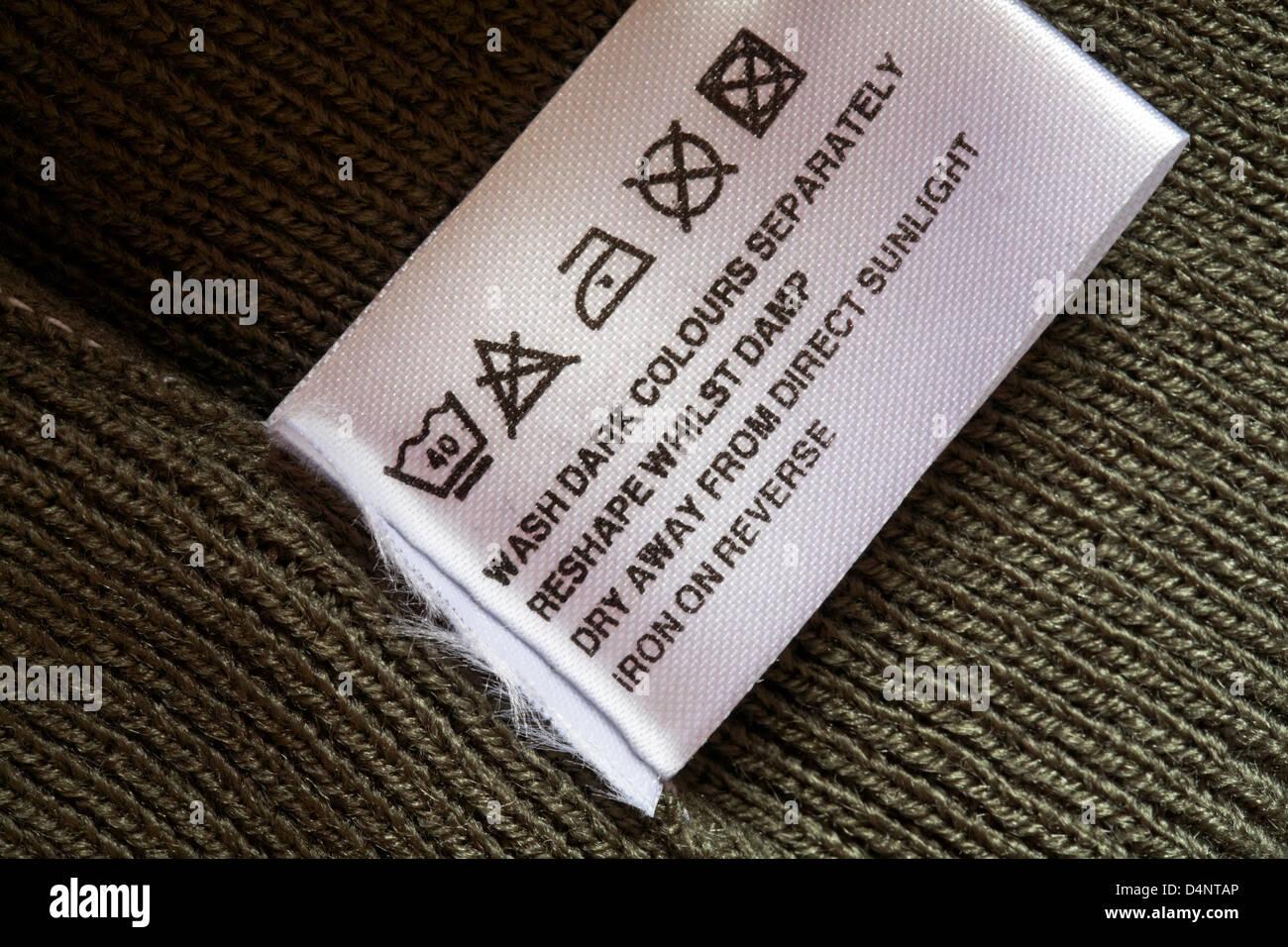 washing instruction symbols canada