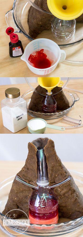 baking soda volcano instructions