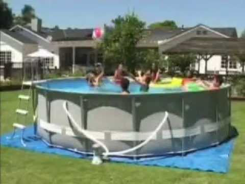 intex rectangular ultra frame pool instructions