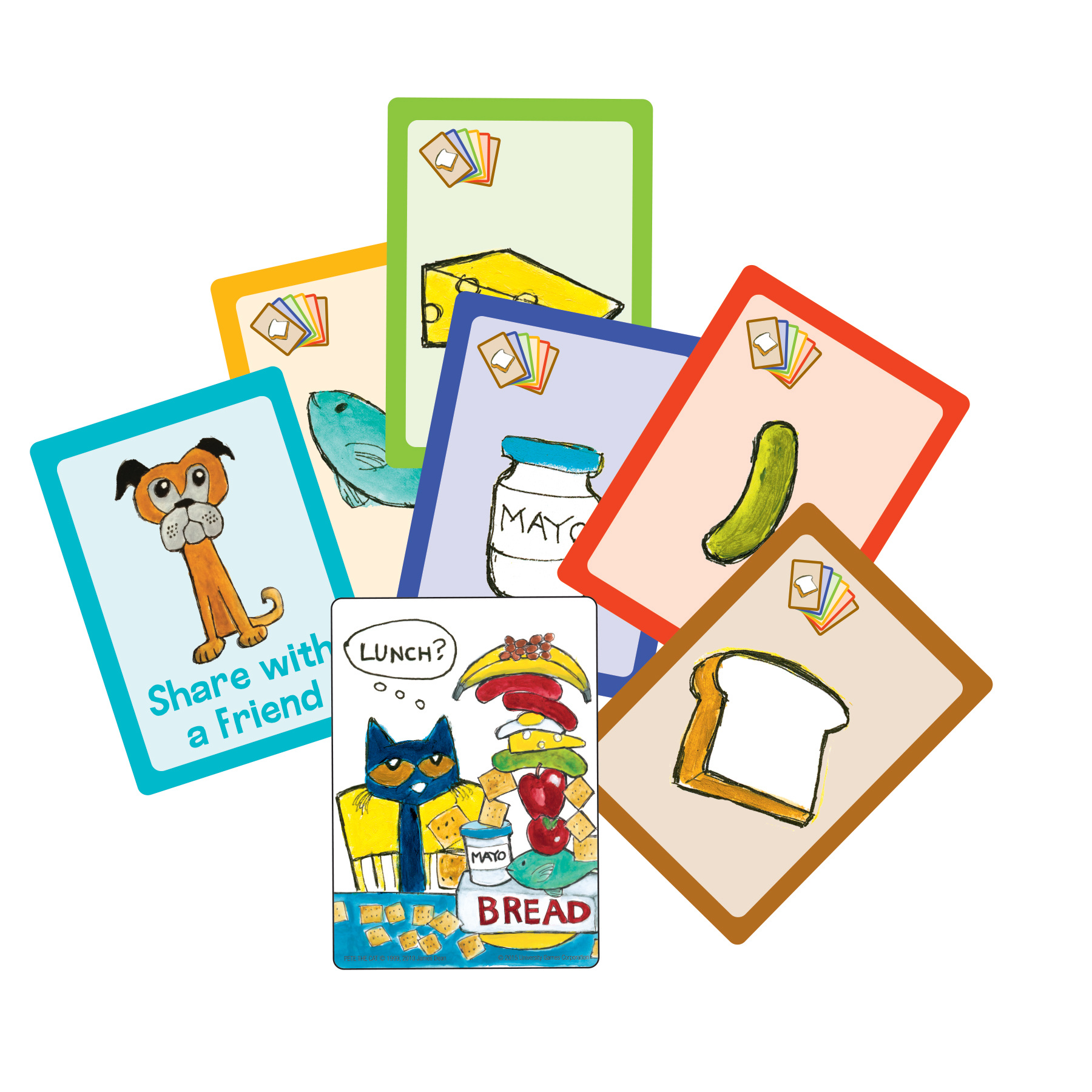 pete the cat big lunch card game instructions