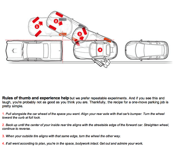 instructions on how to parallel park