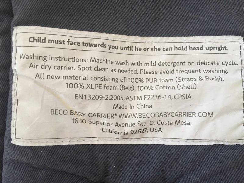 beco gemini baby carrier instructions