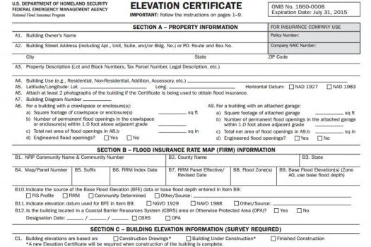 fema elevation certificate instructions