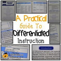 free differentiated instruction lesson plans