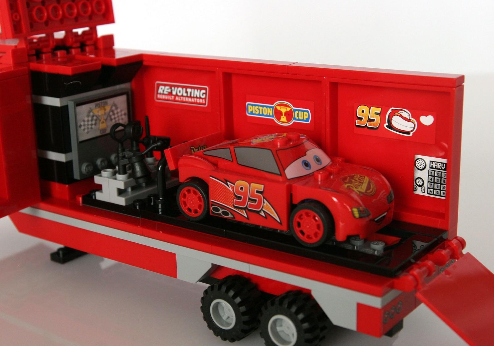 lightning mcqueen mack truck lego instructions