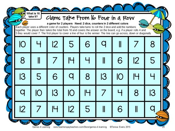 math games for high school with instructions