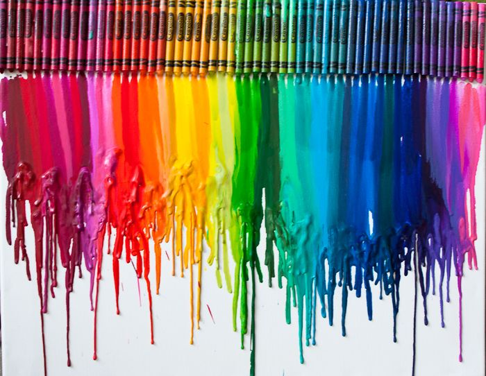 melted crayon art instructions
