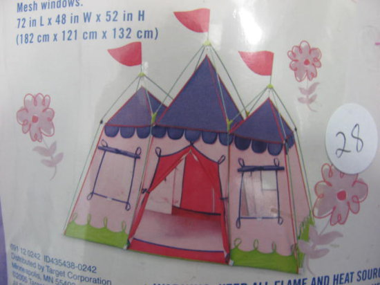 pink princess tent instructions